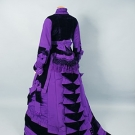 HIGH STYLE PURPLE RECEPTION GOWN, 1870s