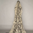BRUSSELS MIXED LACE WEDDING VEIL, 1860-1870