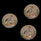 HAND PAINTED BUTTONS, 18TH & 19TH C