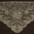 CREAM VALENCIENNES LACE SHAWL, MID 19TH C