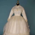 WHITE ORGANDY WEDDING DRESS, 1860s
