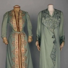 TWO EMBROIDERED WOOL GARMENTS, 1905-1910