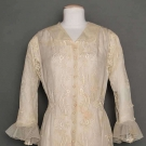 LACE EMBROIDERED DRESS, c. 1915