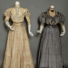TWO SILK AFTERNOON DRESSES, c. 1908