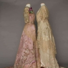 TWO SPANGLED, BEADED BALL GOWNS, 1912-1916