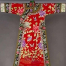 EMBROIDERED RED SILK COAT, CHINA