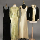 FOUR EVENING GARMENTS, 1930s