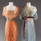 1 PINK & 1 BLUE EVENING GOWN, 1910-1912