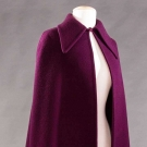 DIOR PLUM CAPE, CROQUIS & PHOTO, PARIS, 1971