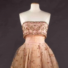 COUTURE STRAPLESS PARTY DRESS, 1950s