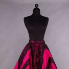 FUCHSIA & BLACK LACE EVENING SKIRT, 1950s