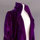 PURPLE VELVET EVENING COAT, 1920s