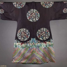 EMBROIDERED BLACK ROBE, CHINA, 19TH C