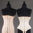 ONE WHITE CORSET, c. 1900 & ONE PINK, 1920s