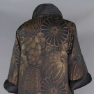 BLACK & GOLD LAME BROCADE OPERA COAT, 1920s