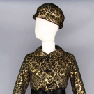 DIOR LAME BROCADE COCKTAIL SUIT & HAT, MID 1960s