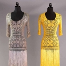 TWO CROCHET DAY DRESSES, 1930s