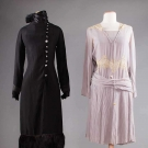 TWO SILK AFTERNOON DRESSES, 1920s