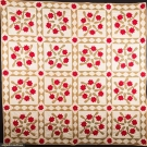 ROSE WREATH QUILT, 1890 - 1910