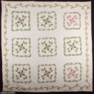 VARIATION ON A LILY QUILT, 1850-1870