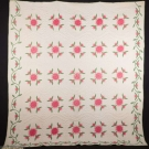 ROSE QUILT, MASSACHUSETTS, 1860-1880