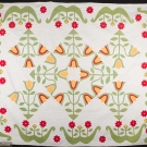 TEXAS LILY APPLIQUE QUILT, 1850-1870