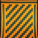 STREAK OF LIGHTNING QUILT, c. 1880