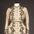 TRAINED WOOL MORNING DRESS, 1870s