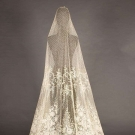 H.M. BRUSSELS MIXED LACE WEDDING VEIL, 1860-1890