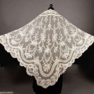 BRUSSELS LACE WEDDING VEIL, LATE 19TH C