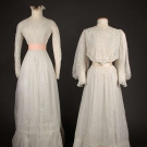 TWO WHITE TEA GOWNS, 1900-1910