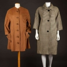 ONE BALENCIAGA & ONE GERNREICH COAT, MID 20TH C