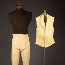 NANKEEN TROUSERS & WOOL VEST, EARLY-MID 19TH C