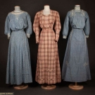 THREE COTTON DAY DRESSES, 1905-1910