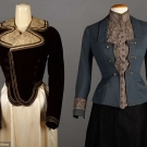 TWO WALKING SUIT JACKETS, 1890-1900
