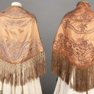 TWO EMBROIDERED SILK CAPES, 1840s