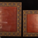 TWO LOUIS VUITTON LEATHER DESK FRAMES, 1960s