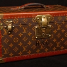 LOUIS VUITTON LEATHER TRAIN CASE, 1950-1960s