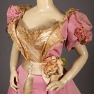 CHARLES WORTH PINK BALL GOWN, PARIS, 1890s