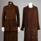 TWO BROWN WOOL DAY GARMENTS, c. 1920