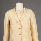 CHANEL BONE SILK SUIT, PARIS, c. 1962