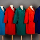 FIVE JEWEL TONE VELVET COATS, ITALY, 1950s