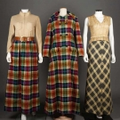 TWO AMERICAN DESIGNER MAXI DRESS ENSEMBLES, 1970s