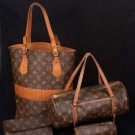 FIVE LOUIS VUITTON BAGS & ACCESSORIES, 1960-1970s