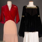 TWO SILK VELVET TOPS, 1930s & 1980