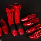 FOUR PAIR MENS RED SHOES, TURKEY, 1880-1910