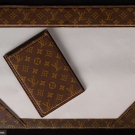 LOUIS VUITTON LEATHER DESK SET, FRANCE, 1960s