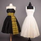 TWO PARTY DRESSES, MID 1950s