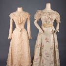 ONE TEA & ONE EVENING GOWN,  1890-1900