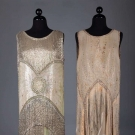 TWO ELABORATELY BEADED FLAPPER DRESSES, 1920s